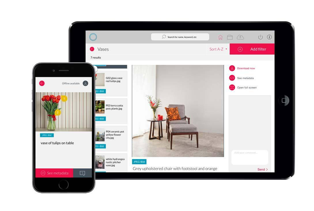 Canto Cumulus DAM Solutions - Canto Cumulus Mobile App - Nextware (Los Angeles)