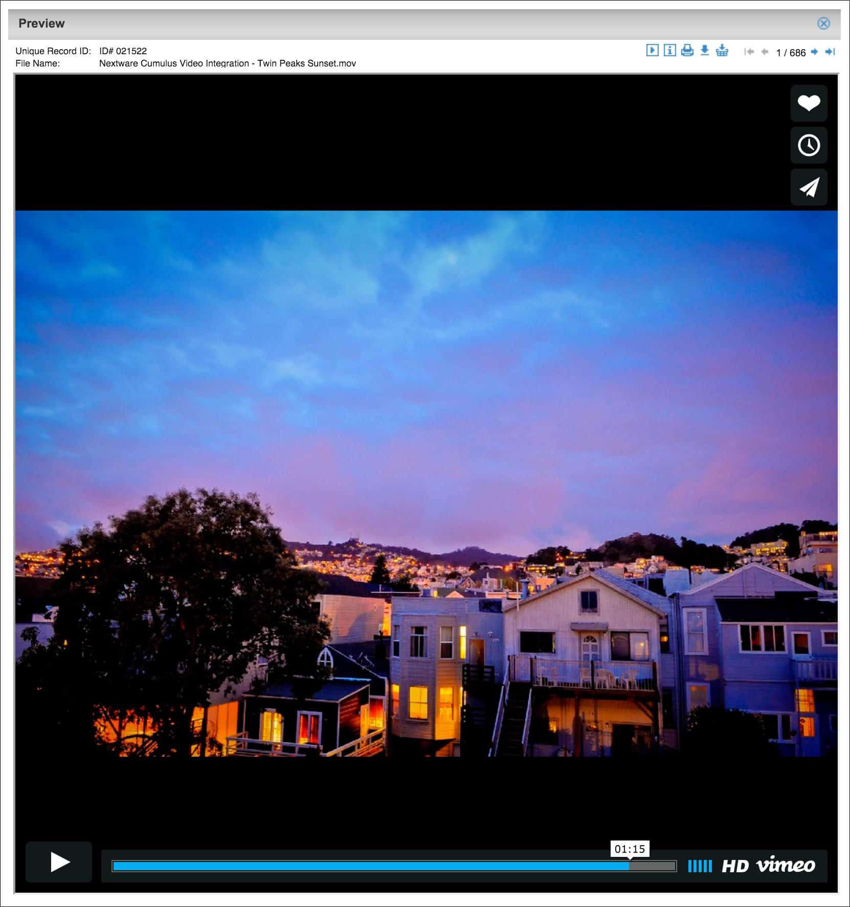 Nextware Cumulus Video Integration Sites Preview